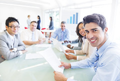 Group of Multi Ethnic Corporate People Having a Meeting (spark_ideas) Tags: people woman male men smiling training work corporate office team looking notes room unitedstatesofamerica happiness meeting graph coworkers professional business company growth seminar conference colleagues youngadult ethnic job groupofpeople employee confident ethnicity teamwork businesspeople expertise smallbusiness paperworks matureadult businessteam businessperson professionaloccupation multiethnicgroup organizedgroup