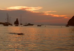 Benirras Bay Sunset (Gilli8888) Tags: ibiza benirras beach bay seaside port harbour marine sea water coast benirrasbay