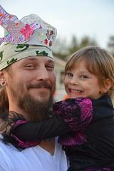 Hugging her dad tight (radargeek) Tags: paseodistrict magiclanternfestival 2016 smile kid child oklahomacity okc hugs hugging