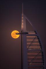 Super Moon ( MBS-.. ) Tags: nikon d500 sigma super moon supermoon burj al arab burjalarab red