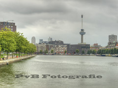 The Euromast Tower (PvB Fotografie) Tags: the euromast tower historic delfshaven rotterdam was founded year 1389 oldest part pvbfotografie pvb photographer photo holland fotografie fotograaf foto zuidholland outdoor olympus olympuse510 e510 hdr water schie boten boat gebouwen building buildings oldbuilding