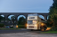 Evening Under the Arches (Better Living Through Chemistry37) Tags: vdv138s ilustrious independents devonindependents buses busessouthwest transport transportation vehicles vehicle psv publictransport 4 easterncoachworks opentopbuses broadsands viaduct hookhillsviaduct bristol bristolvr vr vrt sl36lxb lowlight nightphotography busesatnight