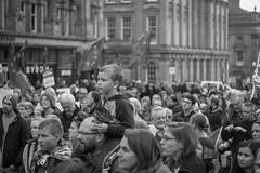 Newcastle rally for Europe (Mal Urwin) Tags: people streetphotography monochrome newcastleupontyne northeastengland manualfocus
