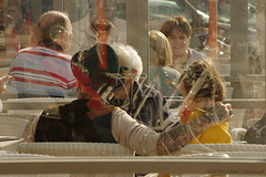 Belgian coast (Natali Antonovich) Tags: belgiancoast seasideresort seaboard seashore seaside portrait lifestyle relaxation blankenberge terras cafe family hat hats tattoo hatisalwaysfashionable