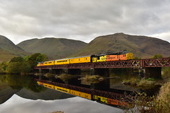 37219 and 37421 at Loch Awe (Alexander Cromarty) Tags: class37 37219 37421 1q19obantofortwilliam colasrailfreight testtrain englishelectric westhighlands lochawe colasim scotland reflection plprtesttrain