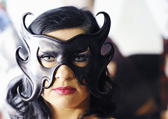 Portrait of Ines (Mental Octopus) Tags: woman stripper mask portrait sextheater safari reeperbahn hamburg germany sexshow redlight redlightdistrict bargirl showgirl nightlife sad mature sexworker workingpoor socialissue