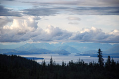 views of the islands (xtremepeaks) Tags: vancouver island bc canada ocean clouds sunset nature mountains landscape outdoors explore