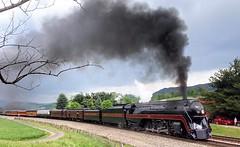 Climbing the Grade at Shawsville (Appalachianrails) Tags: steam engine locomotive 611 nw shawsville va virginia metal steel iron smoke passenger excursion transit transportation railroad railway