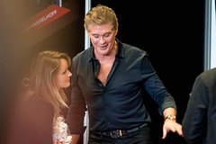 Hoff signing (El gran ladron) Tags: actor hasselhoff hollywood baywatch knightrider movie theater