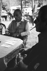 Card Game (Federico Pitto) Tags: bw nikonfe2 trix d76 genova nikkor50mmf14