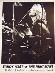 The Runaways Sandy West autograph (trinacolada world) Tags: sandy west runaways rock drummer musician autograph