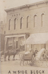 "SW Athens MI RPPC c.1907 Calhoun County Village Shopping District Stores & Businesses Horses Wagons Carriages infront of Grocery &Mercantile The ATHENS TIMES NEWSPAPER OFFICE to right3 (UpNorth Memories - Donald (Don) Harrison) Tags: vintage antique postcard rppc ""don harrison"" ""upnorth memories"" upnorth memories upnorthmemories michigan history heritage travel tourism ""michigan roadside restaurants cafes motels hotels ""tourist stops"" ""travel trailer parks"" campgrounds cottages cabins ""roadside entertainment"" ""natural wonders"" attractions usa puremichigan "" ""railroad ferry"" ""car excursion"
