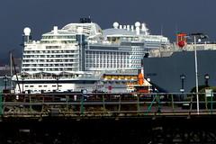 Aidaprima in Southampton Docks (Hythe Eye) Tags: hythe hampshire southamptonwater winter aidaprima cruiseship docks southampton