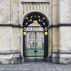 All Souls (305/366) (garrettc) Tags: 366 365 metalwork gate architecture university oxford allsoulscollege
