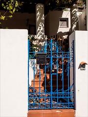 PA024231 Sicily Italy Lipari (Dave Curtis) Tags: 2013 em5 europe omd olympus blue gate shadow