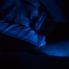 Me at night (superbearded_) Tags: bed blueled aceraspire stillfor30secs longassexposure falltimesadness
