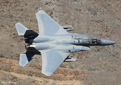 USAF F-15C Eagle 80-0048 (birrlad) Tags: rainbow canyon death valley california usa low level flying flypast flyby aircraft aviation airplane airplanes flyover fast jet fighter attack supersonic united states air force usaf mcdonnell douglas f15c eagle 800048 ang