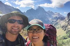 Heading up to Paintbrush Divide from Lake Solitude (GlobalGoebel) Tags: alta wyoming unitedstates us selfie grand teton national park backcountry hiking tetoncresttrail iphone iphone6