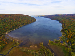 The South End (Matt Champlin) Tags: dronephotography drone drones dji djiphantom4 phantom4 aerial skaneateleslake skaneateles fingerlakes lakes lake fall autumn colorful foliage 2016 valley glaciers