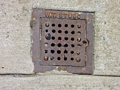 W.T. Stubo, San Francisco, CA (Robby Virus) Tags: sanfrancisco california sf ca sewer vent cover metal access sidewalk cement concrete pavement wt walter stubo jb griffin 1921