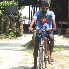 Kinu and Nag on a cycle in the Andamans (Nagarjun) Tags: kanishka nagarjun kinu andamans havelock