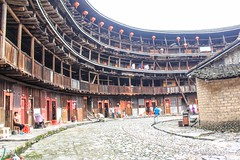 Hakka Tulou, China (cattan2011) Tags: streetpics streetphotography streetart building architecture traveltuesday travelblogger travel landscapephotography landscape 南靖土楼 中国 nanjingtulou nanjing hakkatulou china
