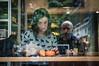 Foxy Lady (jonron239) Tags: cafe window selfie reflection woman girl pumpkin pullover design fox deli newyork greenwichvillage