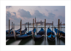 Good morning Venice (Explore 29/10/16 #69) (andyrousephotography) Tags: venice grandcanal gondolas moored jetty pier bobbing blurred motion sangiorgiomaggiore church lanterns illumination light morning misty mist clouds cool moisture rain home bed longexposure le andyrouse canon eos 5d mkiii