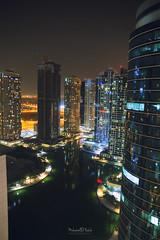 Jumeirah Lake Towers - Dubai (Muhammad Habib Photography) Tags: jumeirah lake towers jlt dubai mydubai uae traveler travel traveling hbb hbeebz habib hbib muhammadhabib muhammadhabibphotography middleeast architecture night building waterfront