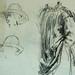 MILLET Jean-François,1850 - Départ pour le Travail, Etudes - The Walk to Work (drawing, dessin, disegno-Louvre RF11192-Recto) - Detail 32