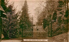 The Abbey Gates (mgjefferies) Tags: england dorset miltonabbas postcard gates abbey