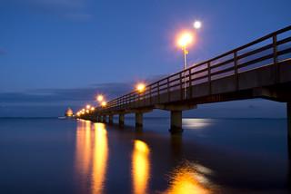 Blaue Stunde Grömitz an der Ostsee