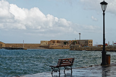 Chania_06_25102016-1110 (john houv) Tags: chania crete mediterranean oldharbour oldharbor lighthouse reflection