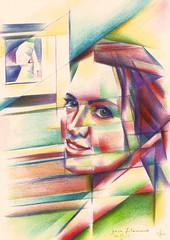 Julia Filament - 04-11-16 (corne.akkers) Tags: akkers artist artista arts buyart roundisme corne artonline kubisme cubismo drawing dutch figurative finearts frau kubistisch kbizm cubist cubiste holland kunst juliafilament nederland netherlands roundism pencil portrait portraiture cubistic cubism cubisme tekening vrouw woman zeichnung zuidholland southholland     figuratief  thut ngh art     gerekstclk   ukraina