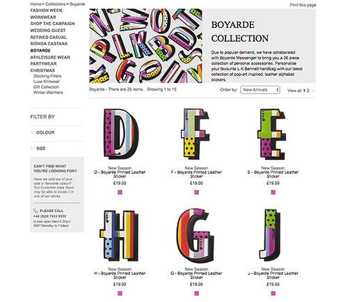 Lkbxboyarde lkbennett leather alphabet collaboration