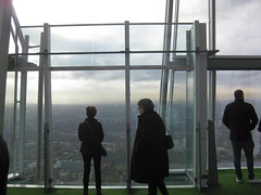 M on the open deck of the Shard (streetr's_flickr) Tags: theshardoflondon highrise panorama tallbuildings structures architecture london city