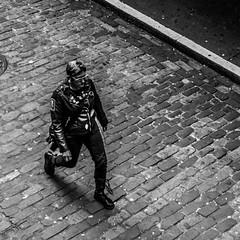 Seattle       Rocker (JB_1984) Tags: man person people streetphotography blackandwhite bw mono squareformat cobbles pikeplacemarket seattle kingcounty washington wa usa unitedstates