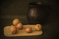 Onions and Jug (suzanne~) Tags: food onion jug painterly stilllife artistic art textur indoor tabletop kitchen