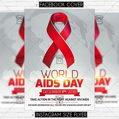 World Aids Day Vol.2 - Premium Flyer Template (ExclusiveFlyer) Tags: aids aidsday background card day greeting greetingcard hiv human red redbackground redstripe ribbon stripe virus world worldaids