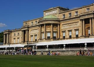 The back door at Buckingham Palace
