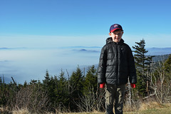 Smoky Mountains -  Carter at the bottom of Clingman's Dome (cdubya1971) Tags: smokymountainsnationalpark smokymountains smokies park national tennessee gatlinburg wildfire fire chimney tops 2016 nature view clingmansdome trail sky northcarolina clouds trees outdoor woods mountains mountain peak observationtower elevation