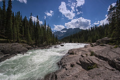 sunwapta-river (laird.lothar) Tags: river nature water woods rockymountains canada sky flus natur berge mountains
