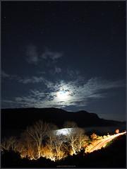 PC054830 e1 MF fr (David W Geddes) Tags: lochcarron moon crescent carheadlights northstrome scotland