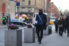 "A guy on 49th Street near 8th Avenue with a hat that says ""Gotta Catch 'Em All!"" (kevinrubin) Tags: newyork unitedstates us"