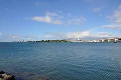 USS Missouri (BB-63), USS Arizona Memorial, Sea-Based X-Band Radar (SBX-1), and Admiral Clarey Bridge - Pearl Harbor - November 2, 2013 012 RT CRP (TVL1970) Tags: nikon nikond90 d90 nikongp1 gp1 geotagged nikkor18105mmvr 18105mmvr hawaii oahu pearlharbor pearlharborvisitorcenter ship warship unitedstatesnavy usnavy usn ussarizonabb39 ussarizona bb39 ussarizonamemorial arizonamemorial pennsylvaniaclass battleship sunk sunk1941 ussmissouribb63 ussmissouri bb63 iowaclass mightymo bigmo sbx1 floatingplatform unitedstatesmissiledefenseagency missiledefenseagency mda militarysealiftcommand msc seabasedxbandradarsbx1 seabasedxbandradar xbandradar earlywarningradar ewr groundbasedmidcoursedefense gbmd radar mosscs50 cs50semisubmersibledrillingrig cs50 semisubmersibledrillingrig vyborgshipyard выборгскийсудостроительныйзавод mosssirius mossmaritime 8765412 admiralclareybridge clareybridge rainbow fordisland