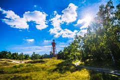 (c) Wolfgang Pfleger-0596 (wolfgangp_vienna) Tags: schweden sweden sverige schonen southsweden kseberga beach strand ystad lighthouse leuchtturm sandhammaren blue sky blau himmel felder