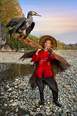 Fisherman's Pride – The Cormorant (fesign) Tags: adult bird chinaeastasia chineseculture colourimage cormorant daylight fisherman fulllength guilin oneanimal onemanonly oneperson oneseniorman outdoors people photography pride rurallife senioradult standing traditionalclothing vertical water woodmaterial xingping yangshuo