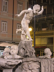 Fountain, Piazza del Ponterosso at night, Trieste, Italy (Paul McClure DC) Tags: trieste italy italia nov2016 trst friuliveneziagiulia historic architecture sculpture