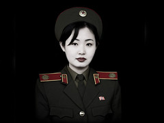 North Korean Soldier , North Korea (tengseangy) Tags: ideology 2008 adultsonly army armymuseum asia axisofevil beret clothing color colour cute dictature dprk eastasia feminine girl guide insidenorthkorea jolie juche juchesocialistrepublic kim koreanpeninsula lookingatcamera military northkorea northkoreanarmy oneperson oneyoungwomanonly portrait pyongyang rdpc seduisante sexy square squareformat travel unepersonne uniform uniforme war woman