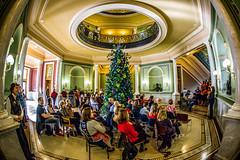 Christmas Carols (Phil Roeder) Tags: desmoines iowa desmoinespublicschools roosevelthighschool choir chorus singers olababcockmillerbuilding canon6d canon15mmf28 canonef15mmfisheye